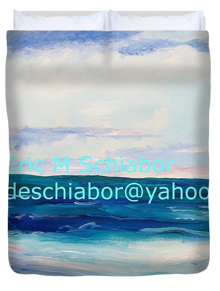 Duvet Cover featuring the painting Ocean Assateague Virginia by Eric  Schiabor