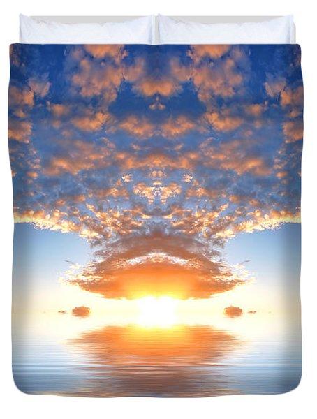 Ocean At Sunset Duvet Cover by Michal Bednarek