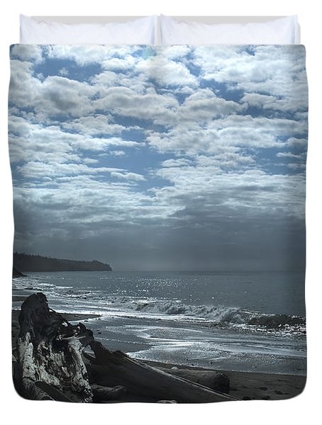 Ocean Beach Pacific Northwest Duvet Cover