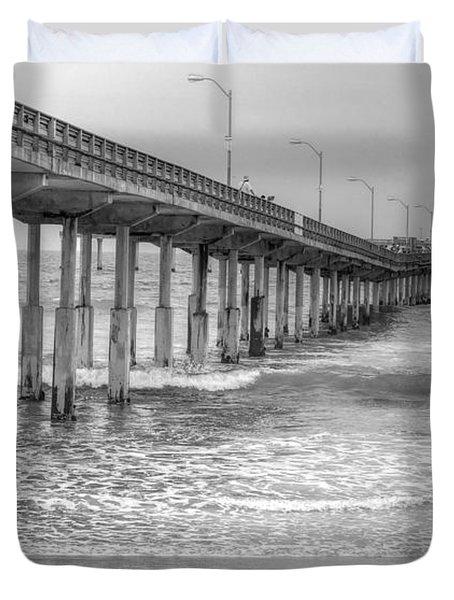Ocean Beach Pier Duvet Cover