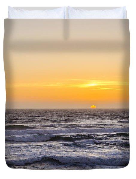 Ocean Beach Sunset Duvet Cover