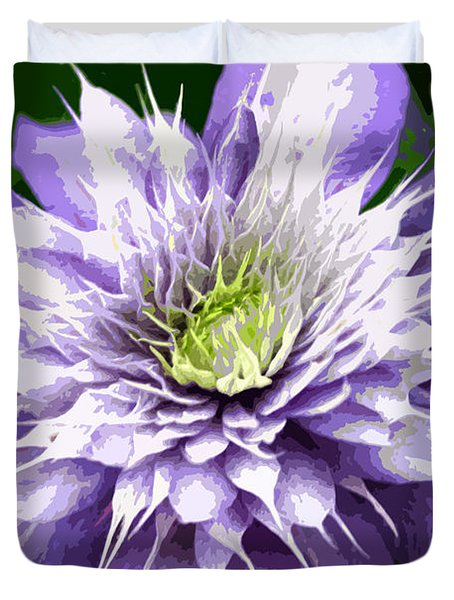 Ocean Bloom Duvet Cover by Sarah OToole