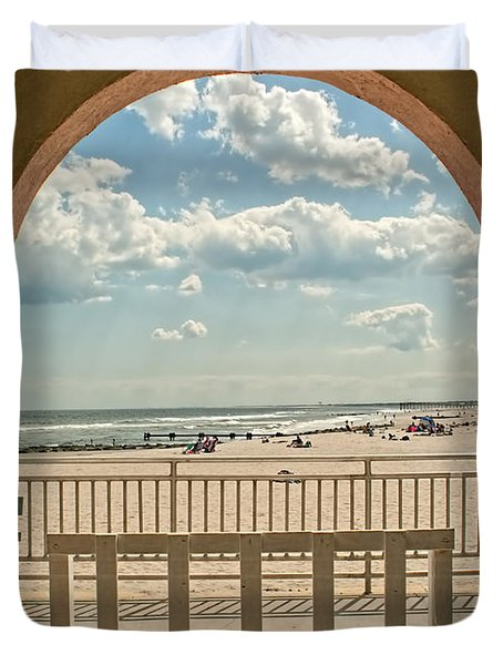 Ocean City Beach View Duvet Cover