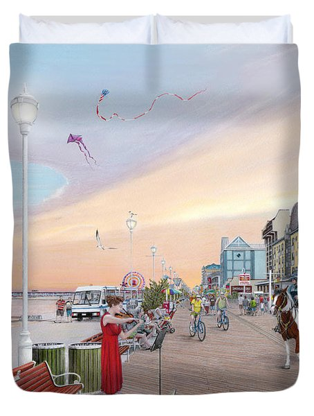 Ocean City Maryland Duvet Cover by Albert Puskaric