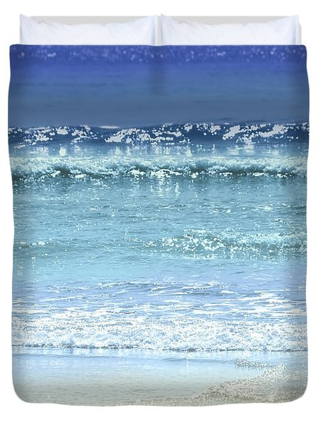 Ocean Colors Abstract Duvet Cover