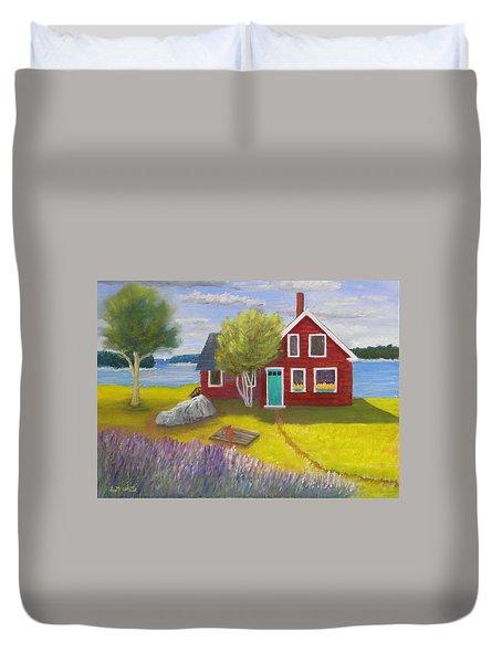 Ocean Cottage Duvet Cover