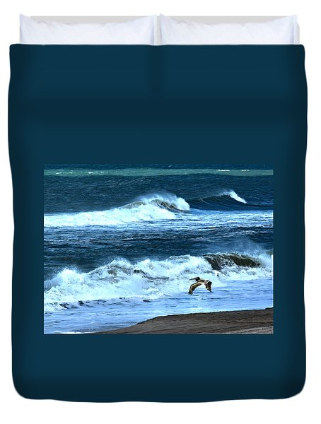 Ocean During A Storm Duvet Cover by Sandi OReilly