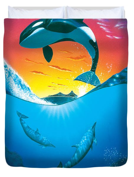 Ocean Freedom Duvet Cover by MGL Studio - Chris Hiett