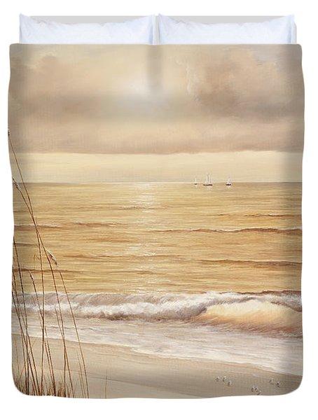 Ocean Glow Duvet Cover by Diane Romanello