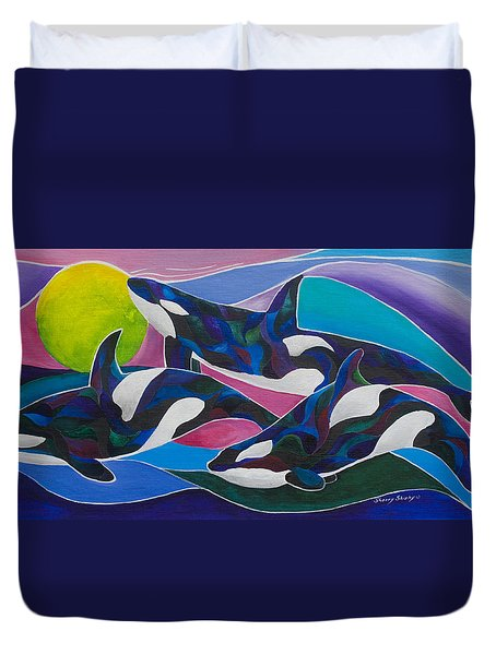 Ocean Gypsies Duvet Cover by Sherry Shipley