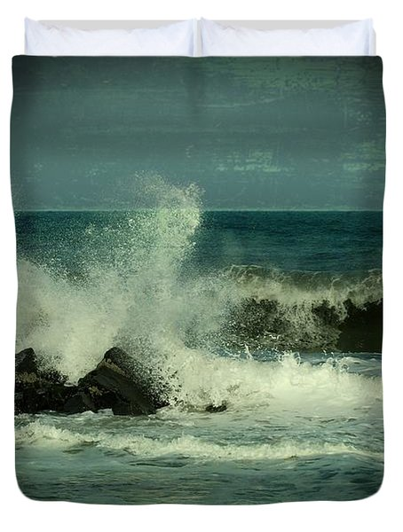 Ocean Impact - Jersey Shore Duvet Cover