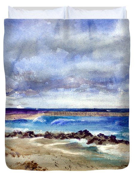 Ocean  Inlet Beach In Boynton Beach Duvet Cover