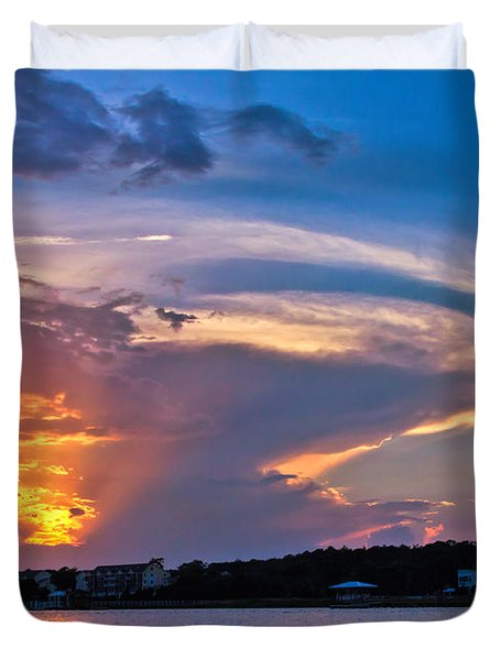 Ocean Isle Sunset Duvet Cover