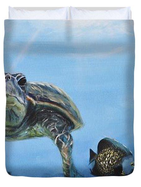 Ocean Life Duvet Cover by Donna Tuten