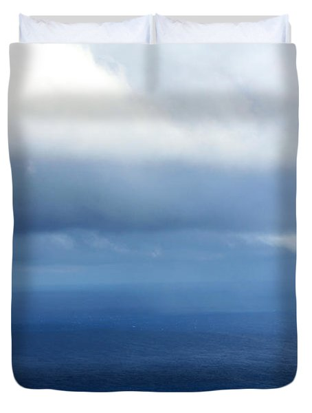 Ocean Of Existence Duvet Cover by Karon Melillo DeVega