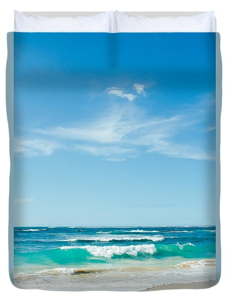Duvet Cover featuring the photograph Ocean Of Joy by Sharon Mau