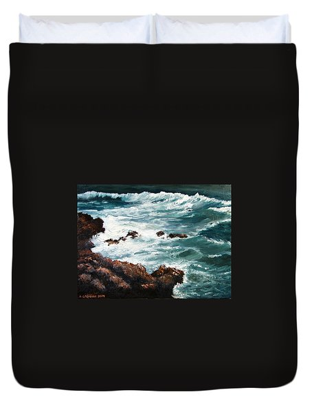 Ocean Rocks  Duvet Cover