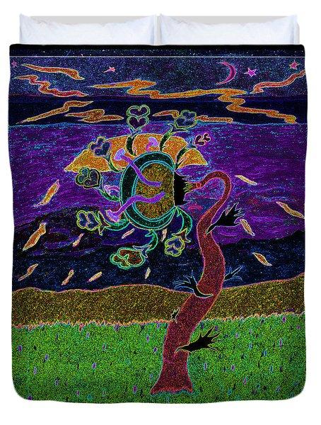 Ocean Side Flower At Sun Set    V3 Duvet Cover