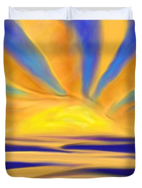 Ocean Sunrise Duvet Cover by Anita Lewis