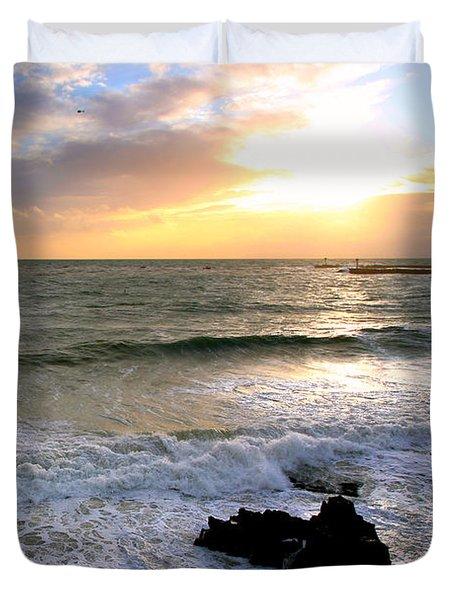 Ocean Sunset 84 Duvet Cover