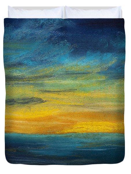 Ocean Sunset Duvet Cover by Dana Strotheide