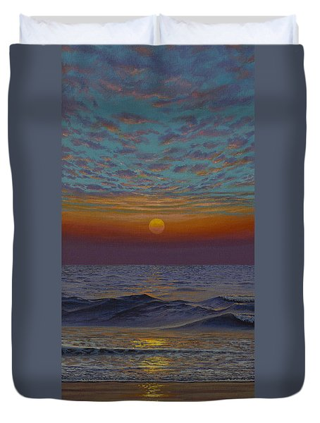 Ocean. Sunset Duvet Cover