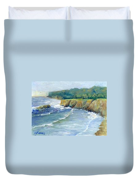 Ocean Surf Colorful Original Seascape Painting Duvet Cover