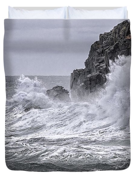 Ocean Surge At Gulliver's Duvet Cover by Marty Saccone