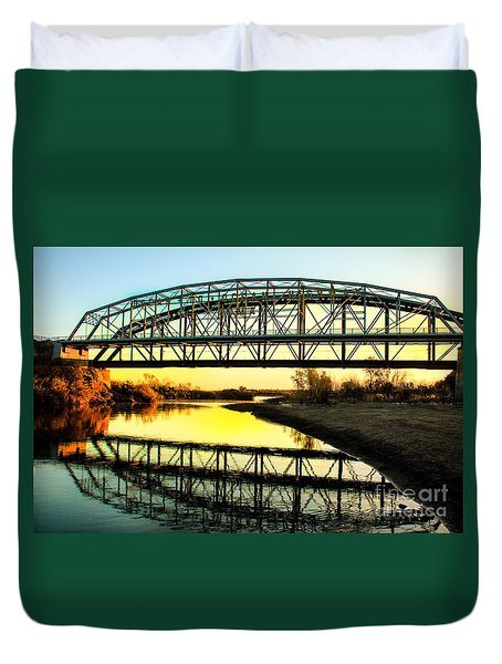 Ocean-to- Ocean Bridge Duvet Cover by Robert Bales