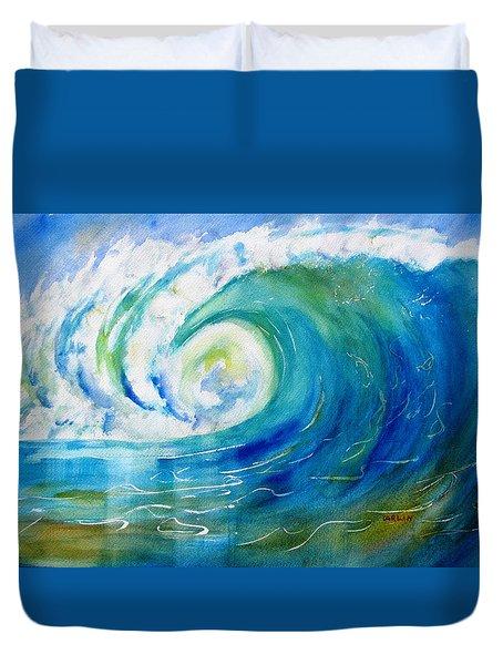 Ocean Wave Duvet Cover by Carlin Blahnik