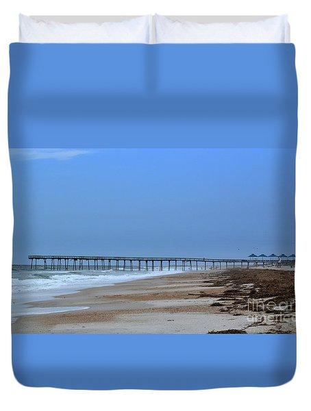 Oceanic Pier Duvet Cover