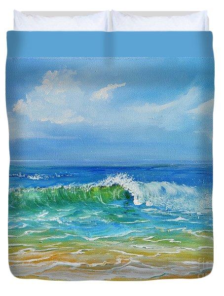 Oceanscape Duvet Cover by Teresa Wegrzyn