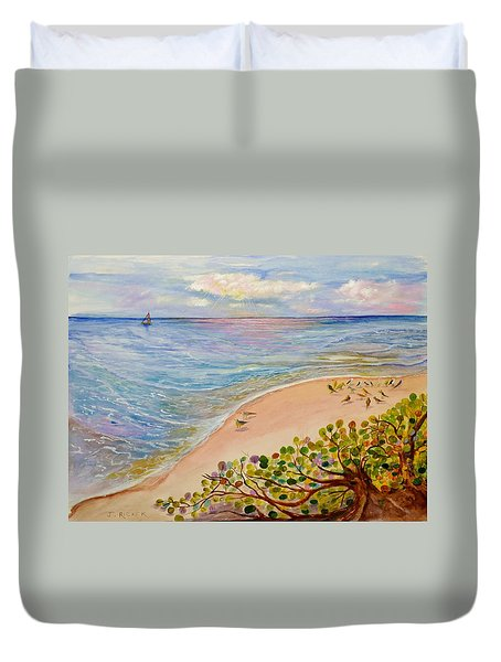 Seaside Grapes Duvet Cover