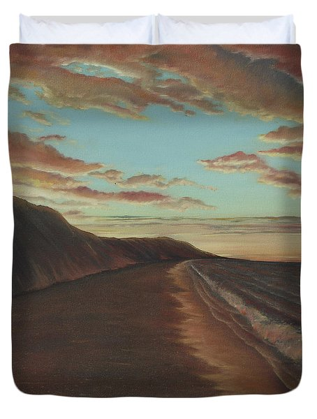 Oceanside Sunset Duvet Cover
