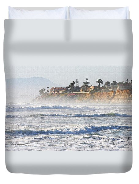 Duvet Cover featuring the photograph Oceanside California by Tom Janca
