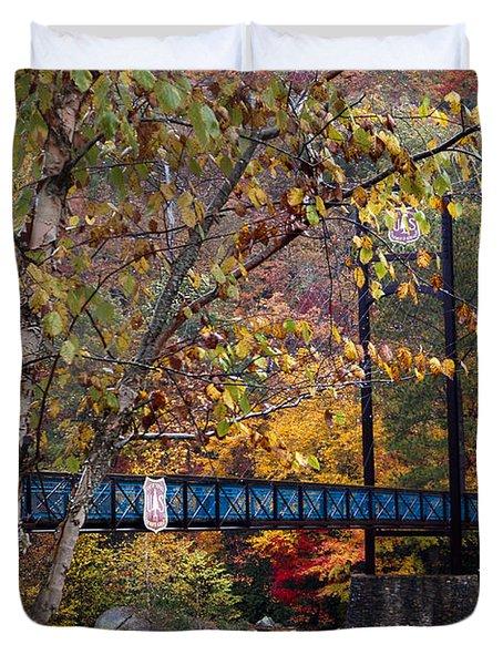 Ocoee River Bridge Duvet Cover by Debra and Dave Vanderlaan