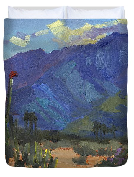 Ocotillos At Smoke Tree Ranch Duvet Cover by Diane McClary