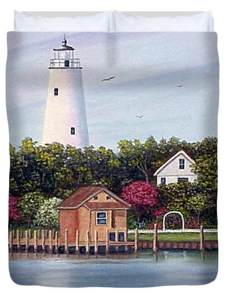Ocracoke Island Light Duvet Cover