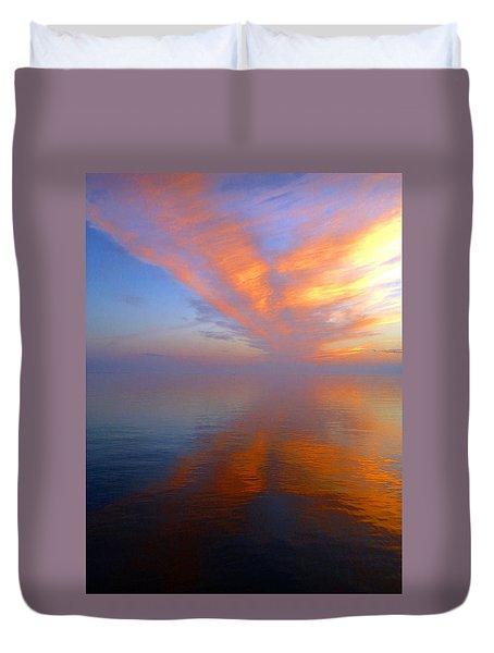 Ocracoke Nc Sunrise Duvet Cover