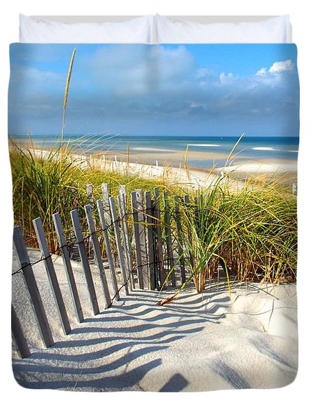 Duvet Cover featuring the photograph October Beach by Dianne Cowen