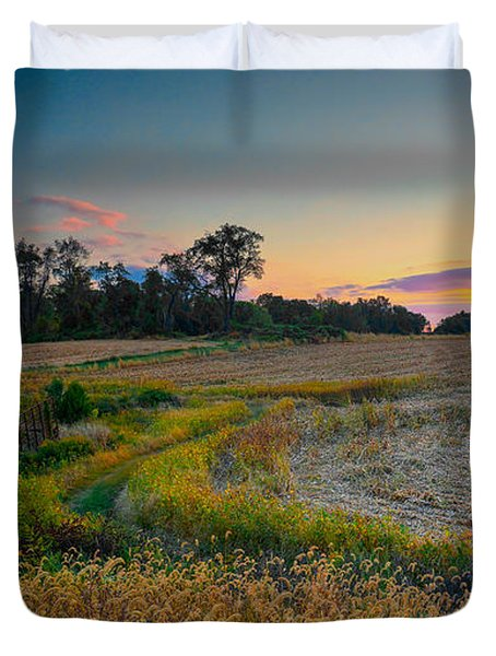 October Evening On The Farm Duvet Cover