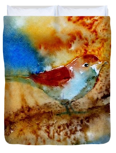 Duvet Cover featuring the painting October Fifth by Anne Duke