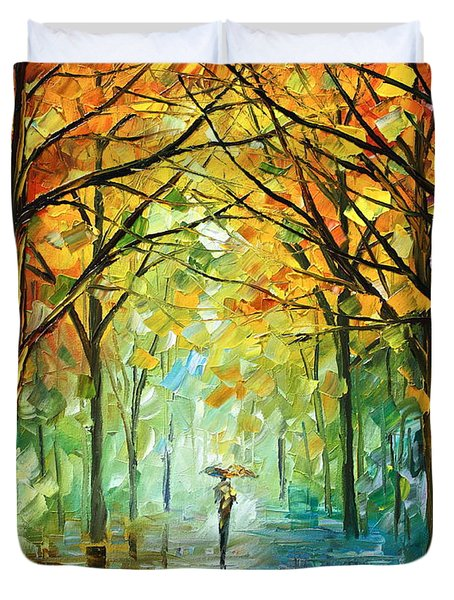 October In The Forest Duvet Cover by Leonid Afremov