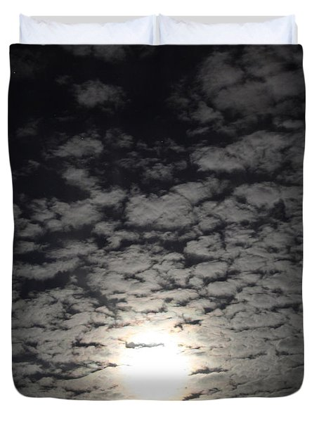 October Moon Duvet Cover by Joel Loftus