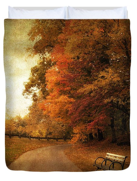 October Tones Duvet Cover by Jessica Jenney