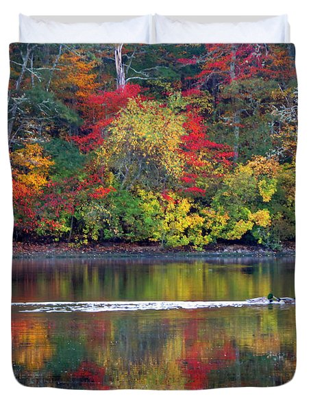Duvet Cover featuring the photograph October's Colors by Dianne Cowen