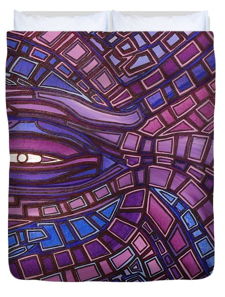 Octopus Eye Duvet Cover by Barbara St Jean