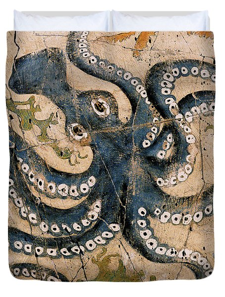 Octopus - Study No. 2 Duvet Cover by Steve Bogdanoff