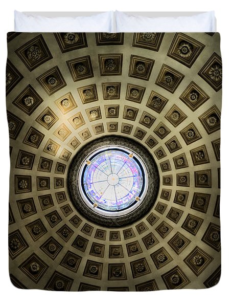 Oculus At The Baths Of Diocleian Duvet Cover by Joan Carroll