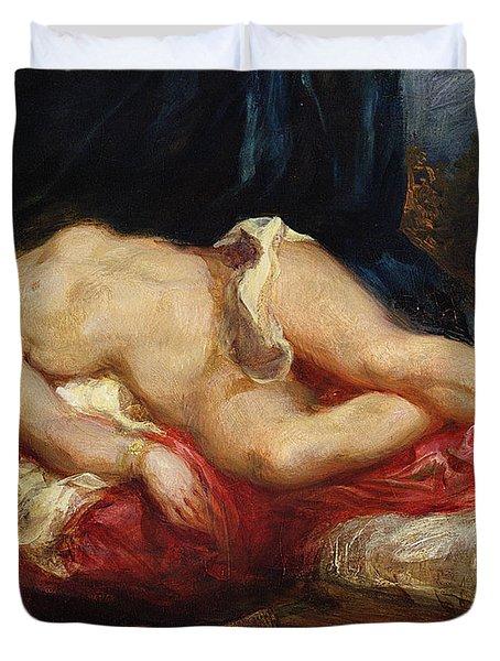 Odalisque Duvet Cover by Ferdinand Victor Eugene Delacroix